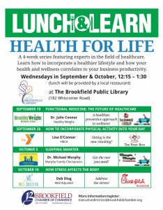 lunch and learn health for life brookfield, ct