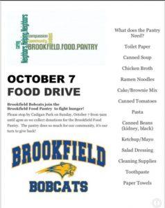 Brookfield Bobcat Food Drive