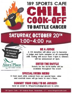 189 Sports Cafe Chili Cook-Off to Battle Cancer